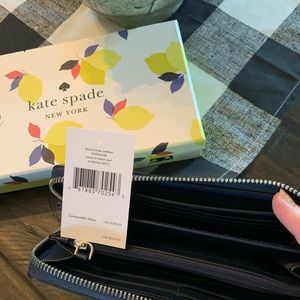 kate spade Bags - ♠️ NWT KATE SPADE Cameron Lemon Zest Wallet!